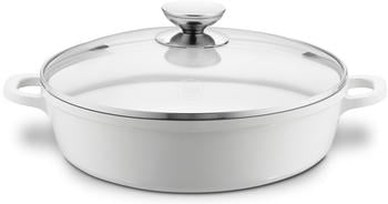 Berndes Vario Click Induction White Schmorkasserolle mit Glasdeckel 32 cm
