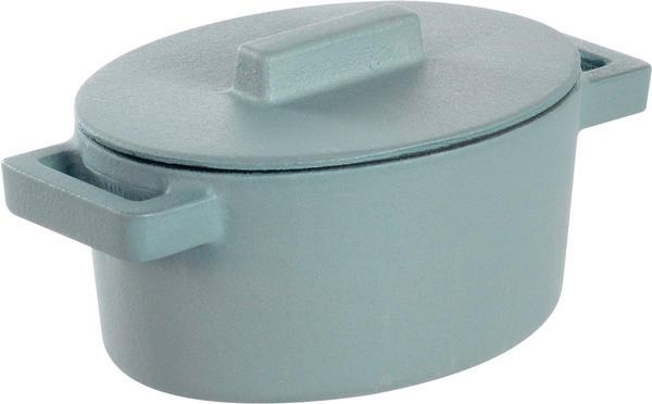 Sambonet Kasserolle oval mit Deckel 13 x 10 cm grau (51638Z13)