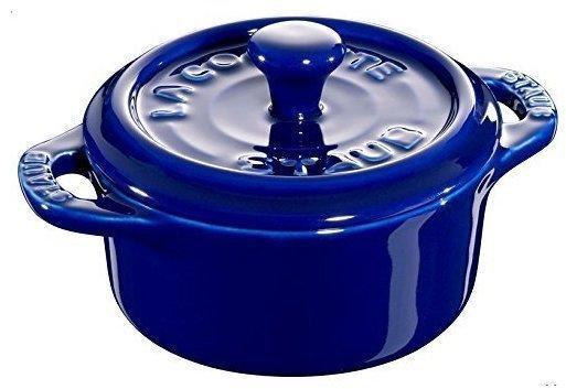 Staub Mini Cocotte Keramik rund 10 cm dunkelblau