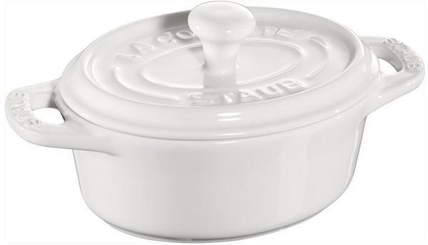 Staub Mini Cocotte oval 11 cm Keramik weiß