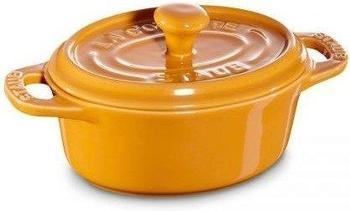 Staub Mini Cocotte oval 11 cm Keramik senf