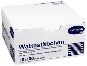 Hartmann Wattestäbchen Holz 15 cm (100 Stk.)