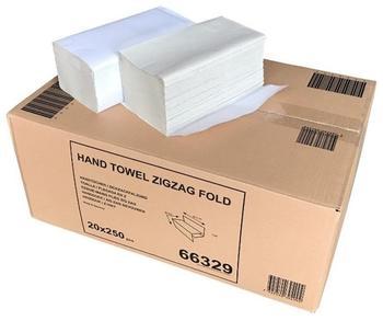 Tork Naturell Papierhandtücher Zick-Zack-Falzung 25 x 23 cm (5000 Blatt)