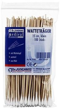 Dr. Junghans Medical Wattestäbchen Holz 15 cm mit Wattekopf (100 Stk.)