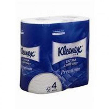 Kimberly-Clark Kleenex Premium 4-lagig weiß (6x4 Rollen)