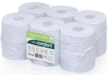 Wepa Professional Comfort Großrollen Toilettenpapier 2-lagig (12 Rollen)