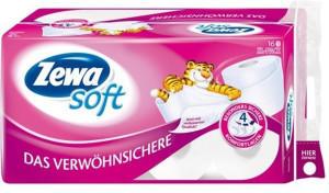 Zewa Toilettenpapier Soft Das Verwöhnsichere (16 Rollen)