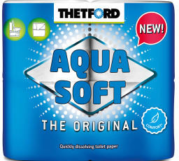 Thetford Aqua Soft The Original 2-lagig 4 Rollen weiß