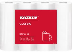 Katrin Küchenrolle ClassicKitchen 50 weiß 2-lagig 4 Rollen