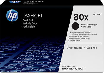 HP 80X schwarz 2er Pack (CF280XD)