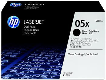 Hewlett-Packard HP 05X schwarz (CE505XD) Doppelpack