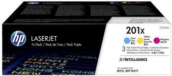 Hewlett-Packard HP Nr. 201X 3er-Pack cyan/magenta/gelb (CF253XM)