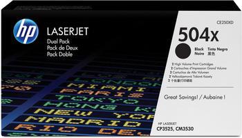 Hewlett-Packard HP 504X schwarz (CE250XD) Doppelpack