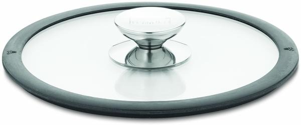 Berndes Glasdeckel mit schwarzem Silikonrand 24 cm