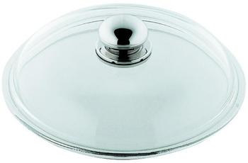 Silit Glasdeckel mit Metallknauf 18 cm