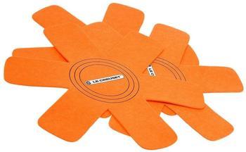 Le Creuset Pfannenschutz 40 cm 3er-Set orange