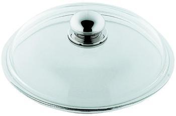 Silit Glasdeckel mit Metallknauf 22 cm