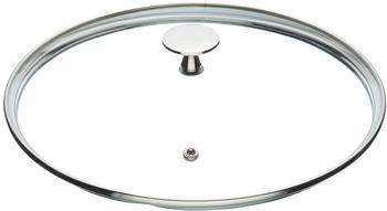 Kitchen Craft MasterClass Glasdeckel mit Edelstahl-Griff 24 cm