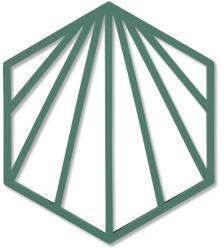 Zone Denmark Shell Untersetzer 16 x 14 cm emerald