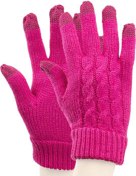 Trendz Store Cable Knit Handschuhe Pink iPhone / iPad