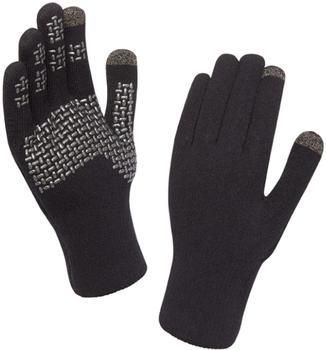 SealSkinz Ultra Grip schwarz/silber Größe M