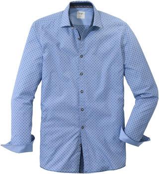 OLYMP Trachtenhemd, Body Fit, Kent blue (39084-41)
