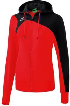 Erima Club 1900 2.0 Trainingsjacke mit Kapuze Damen rot/schwarz