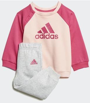 Adidas Logo Fleece Jogging Suit haze coralreal magentareal pinkreal magenta