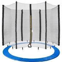 Arebos 460cm Randabdeckung + Netz - 6 Netzstangen