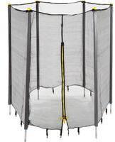 Relaxdays Trampolin Netz, Fangnetz für Gartentrampolin, mit 8 gepolsterten Stangen, Sicherheitsnetz, Ø 427