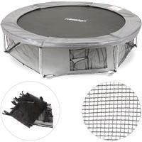 Relaxdays Rahmennetz für Gartentrampolin, Bodensicherungsnetz, Zubehör für rundes Outdoor Trampolin, Ø 366 cm, schwarz