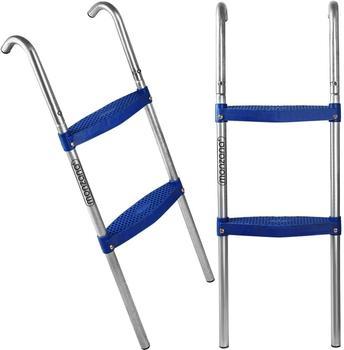 Deuba Trampolinleiter Leiter Einstiegsleiter Gartentrampolin 90 cm 2 Stufen für 305 cm Trampolin