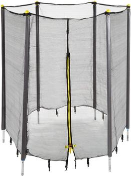 Relaxdays Unisex Jugend, Trampolin Netz, Fangnetz für Gartentrampolin, mit 8 gepolsterten Stangen, Sicherheitsnetz, Ø 366 cm
