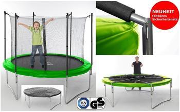 Izzy Trampolin 305 cm inkl. Sicherheitsnetz grün/schwarz