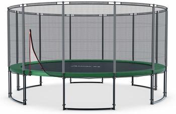 Ampel 24 Deluxe Trampolin 490 cm mit Netz grün