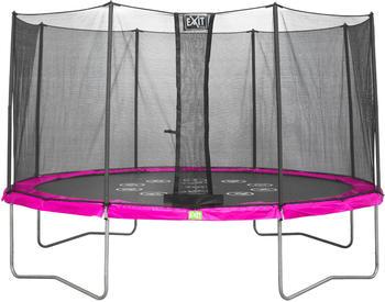 Exit Trampolin Twist 366 cm mit Sicherheitsnetz rosa/grau