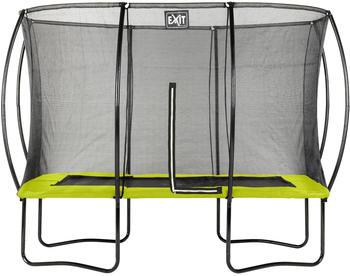 Exit Toys Trampolin Silhouette 244x366 cm mit Sicherheitsnetz grün