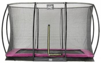 Exit Toys Trampolin Silhouette Ground 214x305 cm mit Sicherheitsnetz pink