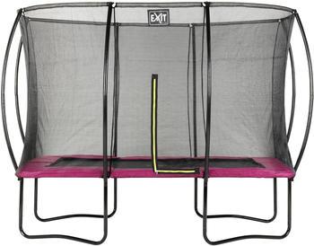 Exit Toys Trampolin Silhouette 244x366 cm mit Sicherheitsnetz rosa