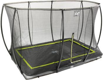 Exit Toys Trampolin Silhouette Ground 244x366 cm mit Sicherheitsnetz schwarz