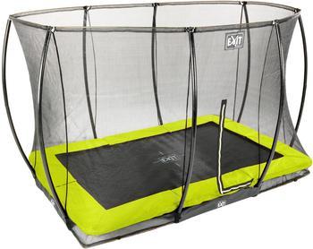 Exit Toys Trampolin Silhouette Ground 214x305 cm mit Sicherheitsnetz lime