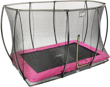 EXIT TOYS Silhouette Ground 244x366 cm inkl. Sicherheitsnetz rechteckig rosa