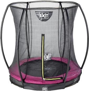 Exit Toys Trampolin Silhouette Ground 183 cm mit Sicherheitsnetz rosa