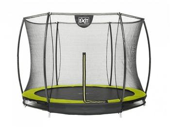 Exit Toys Trampolin Silhouette Ground 244 cm mit Sicherheitsnetz grün