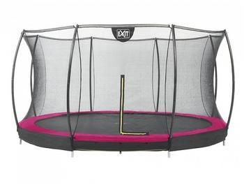 EXIT TOYS Bodentrampolin Silhouette 427 cm inkl. Sicherheitsnetz rosa