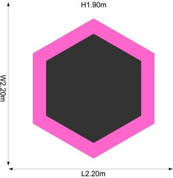 Plum Junior Jumper 213 cm Pink/purple