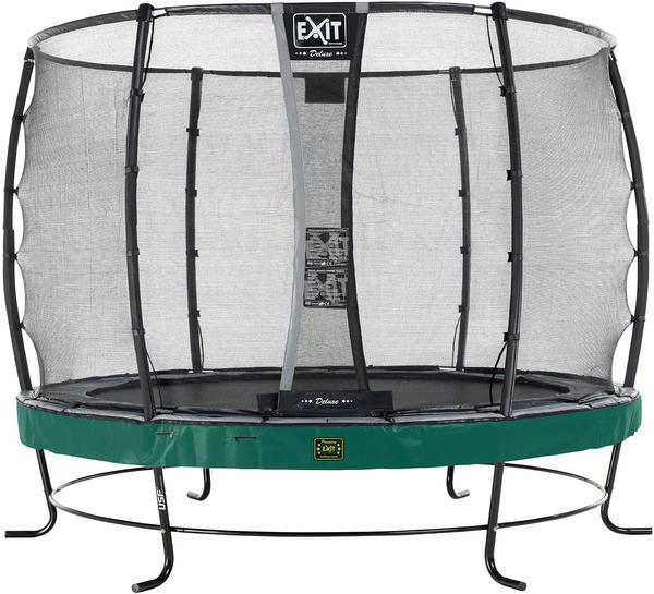 Exit Trampolin Elegant Premium 305 cm mit Deluxe Sicherheitsnetz grün