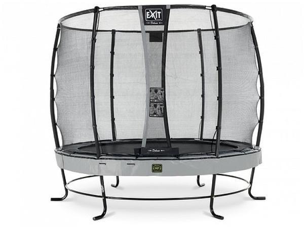 Exit Trampolin Elegant Premium 305 cm mit Deluxe Sicherheitsnetz grau