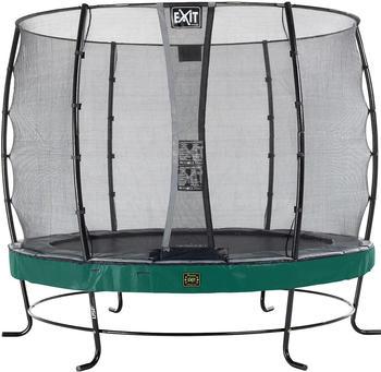 Exit Trampolin Elegant Premium 305 cm mit Economy Sicherheitsnetz grün