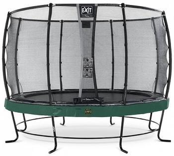 Exit Trampolin Elegant Premium 427 cm mit Deluxe Sicherheitsnetz grün